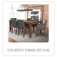 COS-BETSY DINING SET (1+6)